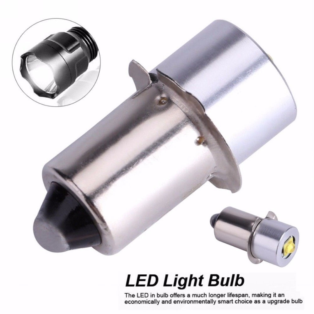 2PCS E10 <font><b>P13.5S</b></font> Base LED Upgrade Bulbs For D+C cell flashlights XPG2 0.5W 1W <font><b>3W</b></font> 3V DC4-12V/6-24V LED Replacement Torch Bulbs 18V image
