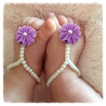 Summer Princess Style Cute Baby Barefoot Shoes 7 Color Infan