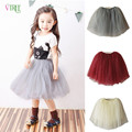 2016 New Girls Tutu Skirt Lovely Soft Tulle 4 Colors Girls Skirts For 2-14Year Kids Pettiskirt Fashion Roupas Infantis Menina