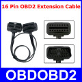 Universal OBD2 16 Pin Male To Female Extension Cable 16pin OBDII Diagnostic Connector ELM327 Flat Thin As Noodle Adapter