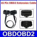 Universal OBD2 16 Pinos Macho Para Fêmea Cabo de Extensão 16pin Conector De Diagnóstico OBDII ELM327 Adaptador Fino Como Noodle Plana