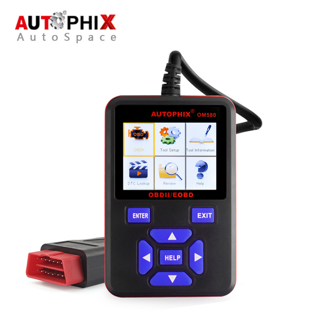 Autophix OBDMate OM580 Car OBD OBD2 EOBD Code Reader Scan Tool Automotive Diagnostic Scanner OBDII 2 II Russian Diagnosis Scaner