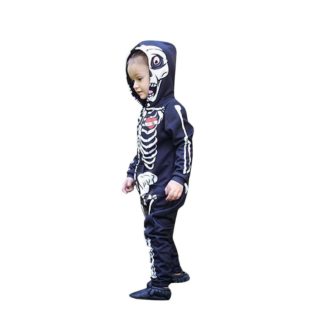 Newborn Baby Girl Boys Rompers Skeleton Print One-piece Jumpsuit Rompers Outfits Costume for Halloween Party baby rompers one piece newborn toddler outfits baby boys clothes little girl jumpsuit kids costume baby clothing roupas infantil