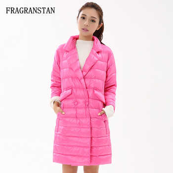 Ladies Winter Fashion Solid Color 90% White Duck Down Jacket Waterproof Ultra Light Design Loose Women Coat Casual Vestidos Y149 - DISCOUNT ITEM  38% OFF Women\'s Clothing