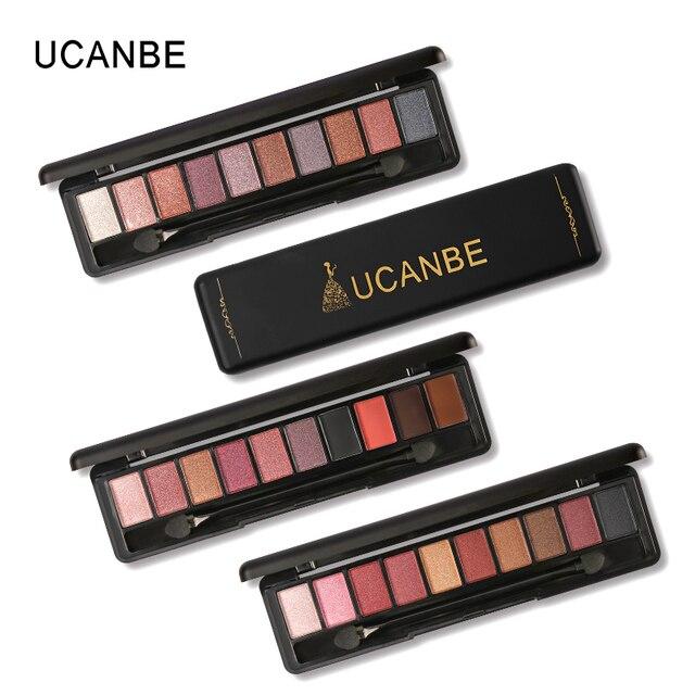 UCANBE бренд макияж 10 Теплые цвета матовая палитра теней для век shimmer пигмент теней для глаз Обнаженная элегантный натуральный paleta де Сомбра