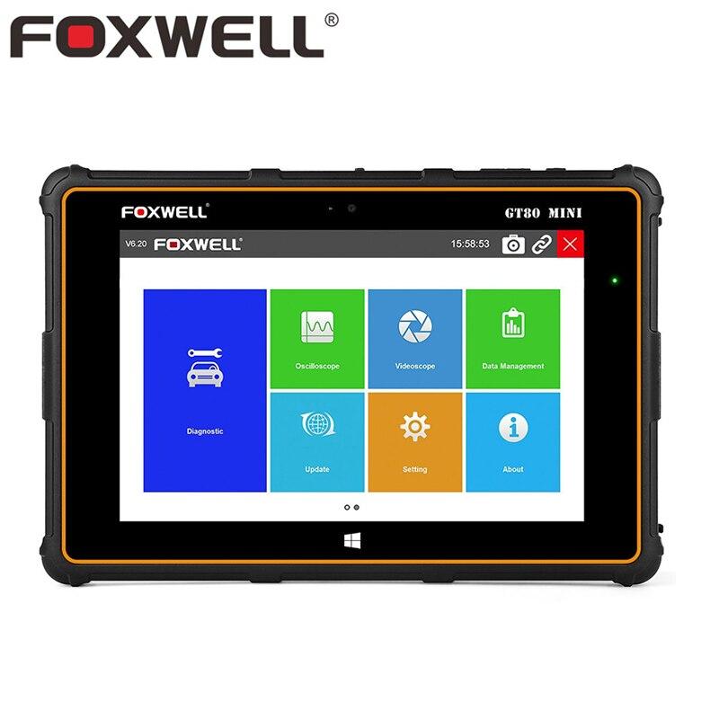 FOXWELL GT80 мини Полный Системы автомобиля OBD OBD2 инструмент диагностики инжектор кодирования DPF Air сумка SRS ABS TPMS сброс профессиональный сканер