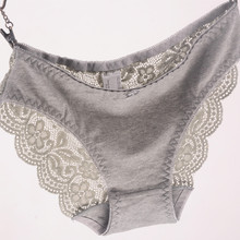 New Women's Briefs Viscose Lace Panties Plus Size Transparent Underwear Ladies Intimates Sexy XL 2XL 3XL High Quality