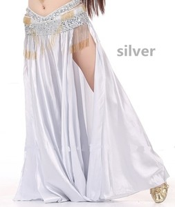 Image 4 - NEW Sexy Belly Dance Costume Saint Skirt 2 Side Slits Skirt Dress Double Split Skirt 14 Colors (No Belt)
