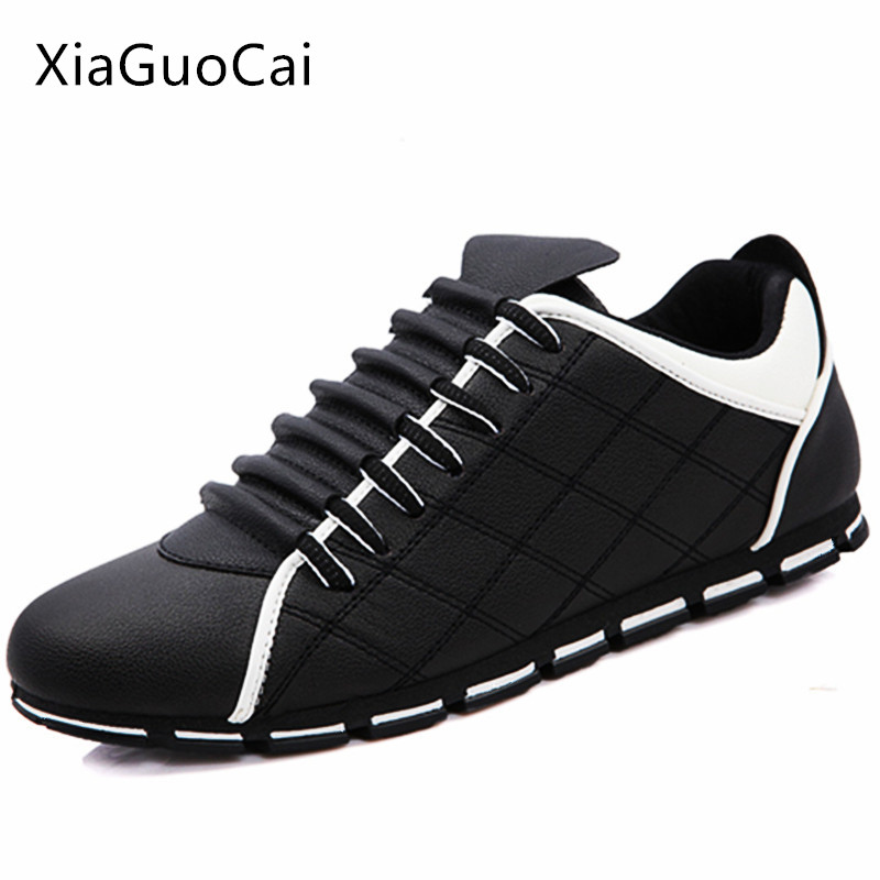 2018 Men Sneakers Genuine Cow Leather Casual Luxury Brand Flat Shoe Male Moccasin Skateboarding Shoes Drop Bope Black White Sturdy Construction Oxfords Shoes