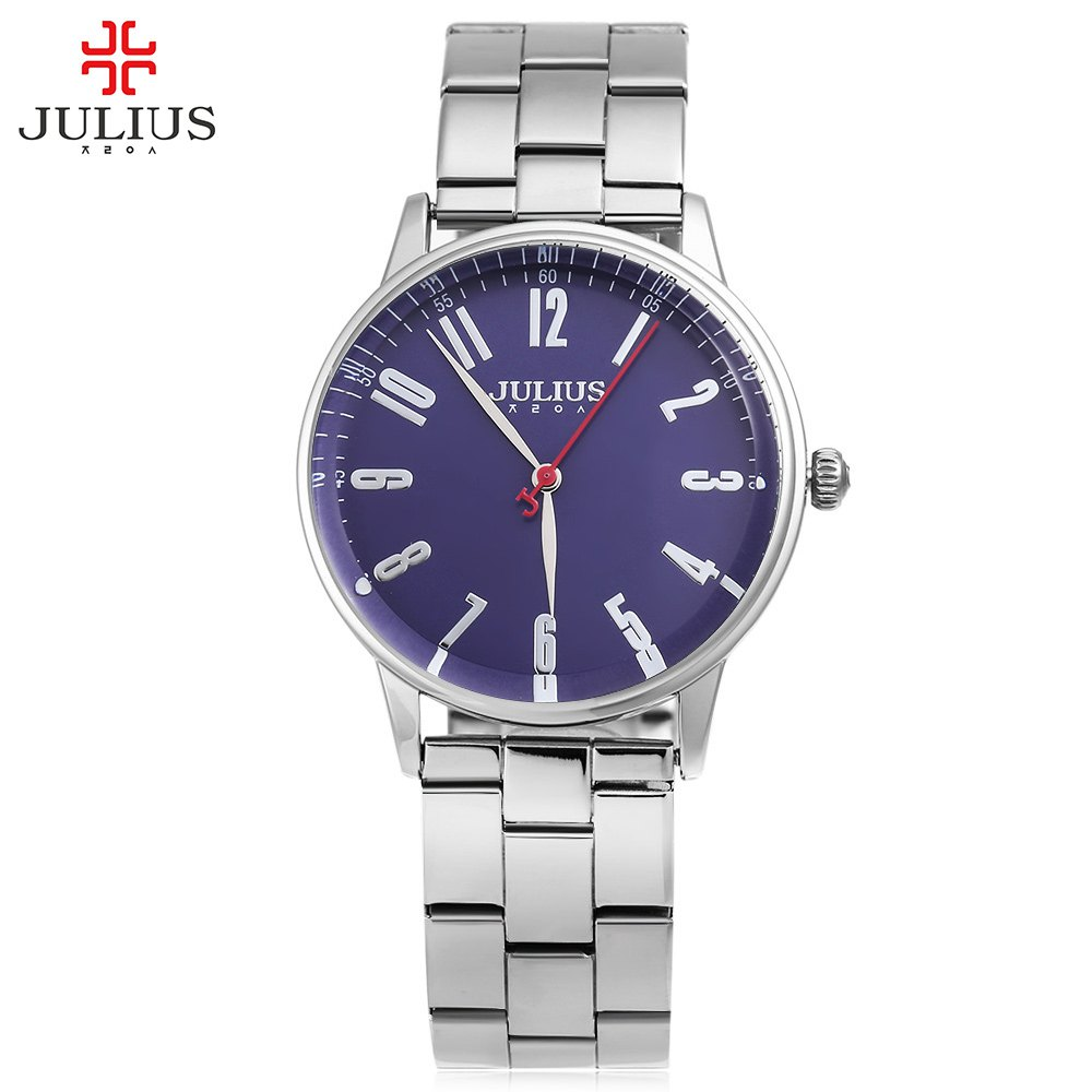 Julius Luxury Brand Quartz Watch Casual Fashion Stainless Steel Strap Watches Reloj Masculino Men Watch Sports Watches Best Gift migeer fashion man stainless steel analog quartz wrist watch men sports watches reloj de hombre 2017 20 gift
