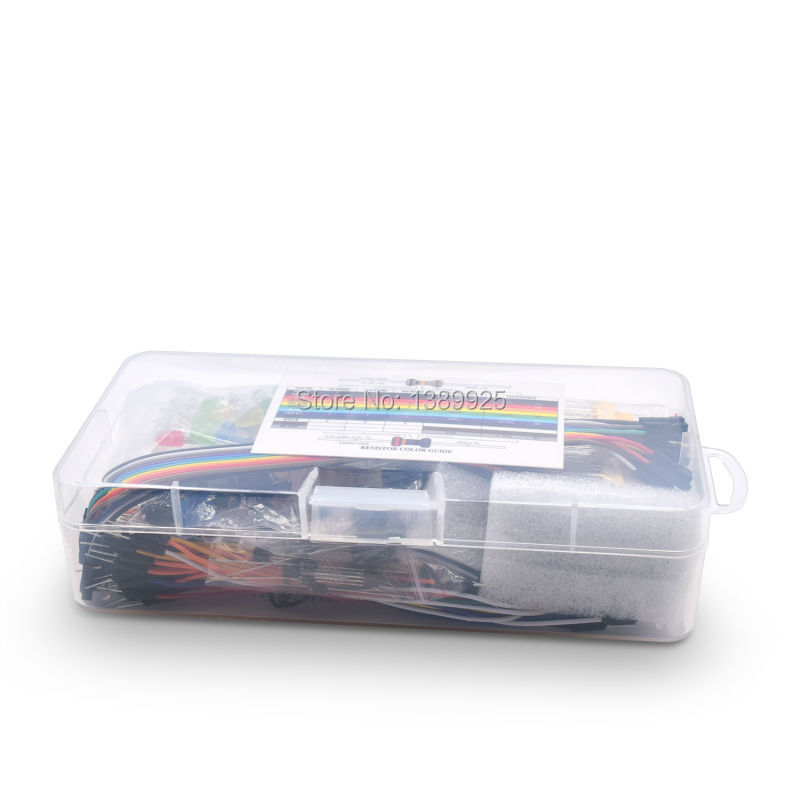 Upgraded Electronics Kit Power Supply Module, Jumper Wire, Precision Potentiometer, 830 Tie-points Breadboard