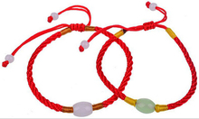 Hot Wholesale Fashion Jewelry 50pcs Handmade Braided Jade Adjustable Lucky Red String Charm Woman Good Bracelets S379