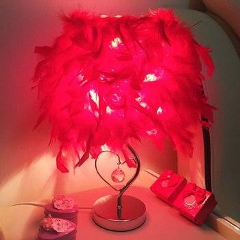 YOOK LED Ǿ�テーブルランプ寝室のスタイル王女のテーブルランプ