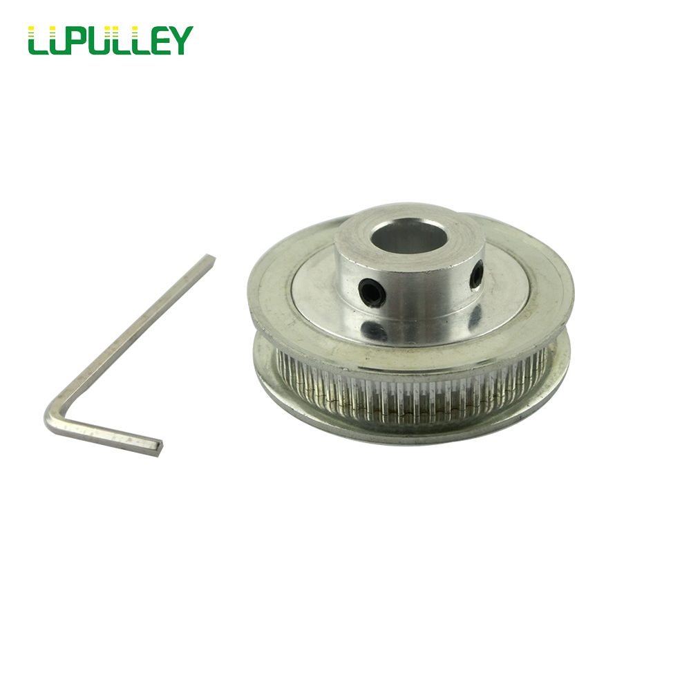 MXL 60 Teeth Aluminum Timing Pulley 6mm Timing Belt Pulley Synchronized Wheel for 6mm Belt