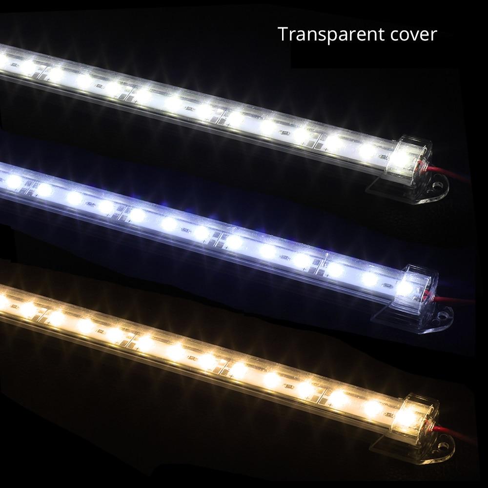 DC 12 В 5730 светодиодный бар свет 50 см 36 светодиодный s 10 шт. алюминиевый корпус платы для под шкаф настенный или книжные шкафы освещение украшен...