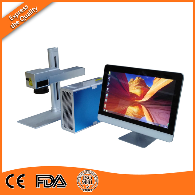 Free Computer 20W Fiber Laser Marker Machine for Metal Printing