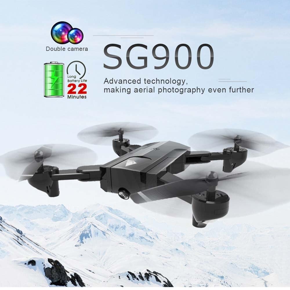SG900 wifi double caméra RC Drone HD caméra Drone pliable geste 2.4G 4CH caméra contrôle Drone, longue durée de vol Photo vidéo-in Avions télécommandés from Jeux et loisirs    1