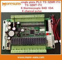 Ayuna la Nave Libre Nueva sola placa PLC TS-32MR-FX/TS-32MT-FX 6 termopar 8AD 1DA 4 canales pulso PLC Bordo