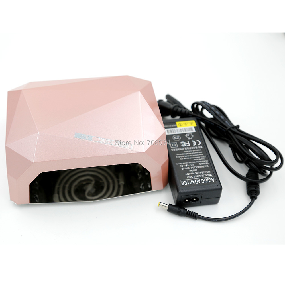 Nail Salon Equipment 1pcs/lot 36W Uv Lamp +LED Nail Lamp Uv Light Uv Gel CCLF Lamp ZS-LCL014-36w