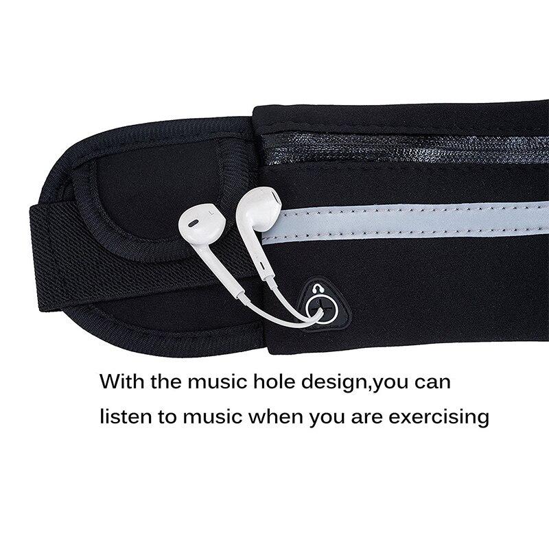 HTB1X1u tVkoBKNjSZFEq6zrEVXa2 2019 New Men Women Gym Fitness Pocket Waterproof Sports Waist Bag Pack Belly Belt Bag Outdoor Running Waist Bags Simple Solid