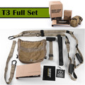 Army Gym T3 Suspension Trainer Bands Sport Belts Training Resistance Straps For Gym Body Weight With LOGO And BOX