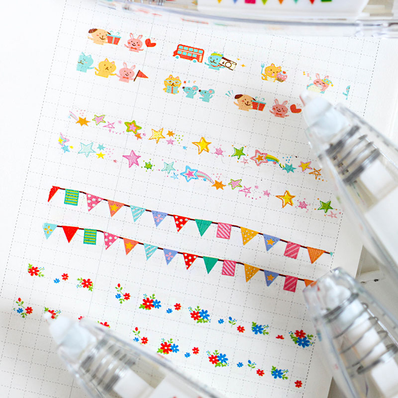 Cartoon Animal Decorative Correction Tape Cute Kawaii Flower Lace Decoration Tape For Diary DIY Scrapbooking School Supplies