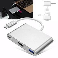 הכי חדש USB 3.1 כדי USB-C 4 K HDMI סוג C מתאם USB3.0 3 ב 1 רכזת עבור Apple Macbook רסיס וזהב צבעים