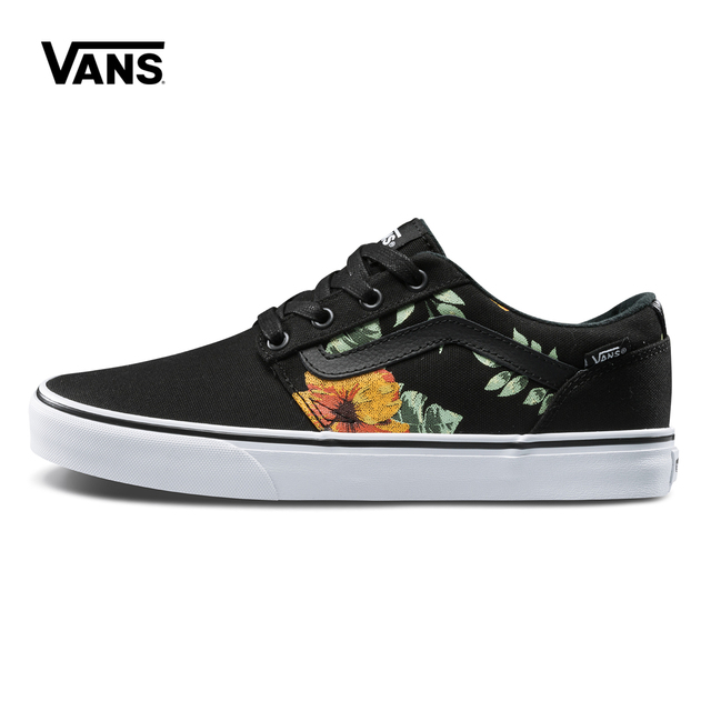 3e89c66020 Original Vans Low-Top Male Skateboarding Shoes Mens Sport Shoes Canvas  Sneakers Breathable Top Quality Leisure