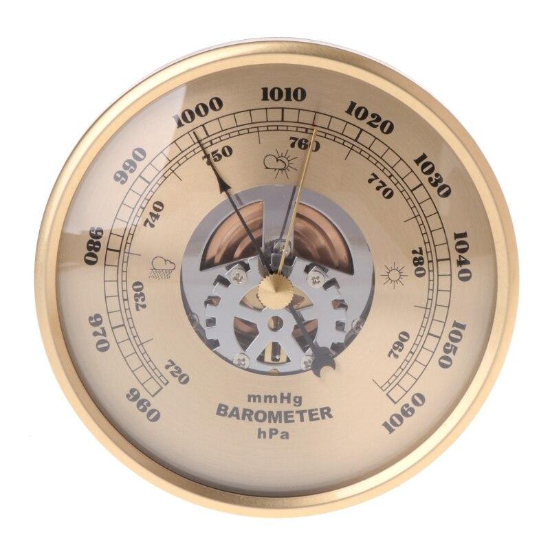108mm Wand Montiert Barometer Perspektive Runde Zifferblatt Air Wetter Station mmHg/hPa