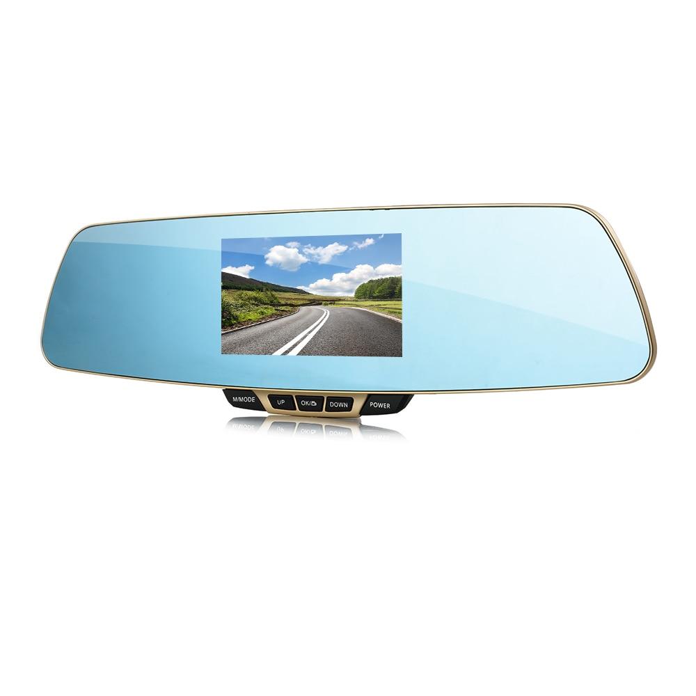 ФОТО Anytek T6 Dual Lens Car DVR Rearview Mirror Camera Full HD 1080P 4.3
