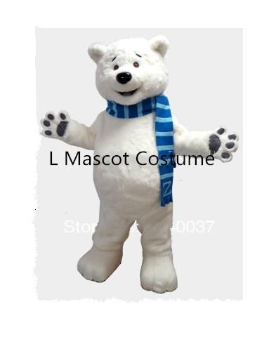 التميمة الدب القطبي التميمة زي مخصص مجموعات أنيمي تأثيري أطقم التميمة موضوع ملابس تنكرية كرنفال حلي