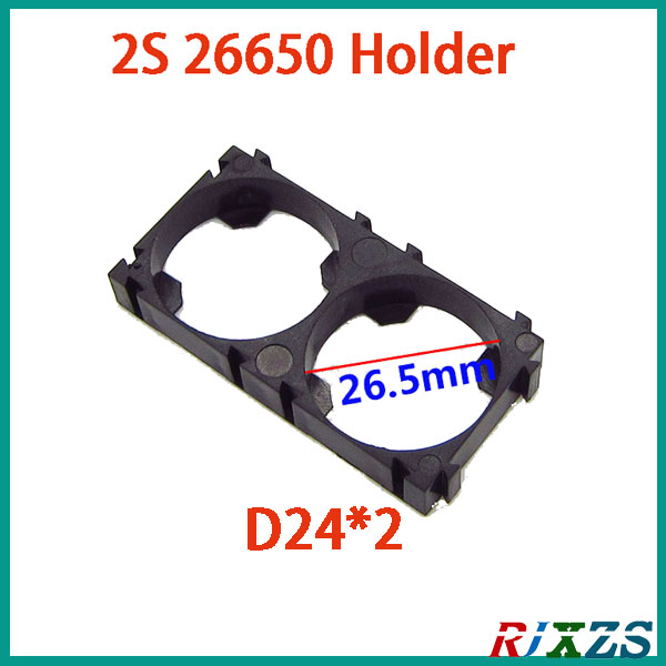 Objective 2pcs/alot 2s 26650 Battery Holder Bracket Cylindrical Battery Holder 26650 Holder Safety Anti Vibration Plastic Case Box Complete In Specifications