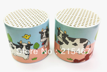 1 pc Deluxe Cow Box Moo Sound Voice Can Noise Maker Birthday Party Toy Favors Novelty Clown Gag Jokes