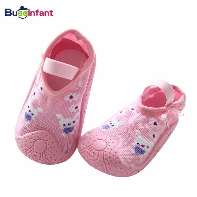 Baby Girls Floor Socks with Rubber