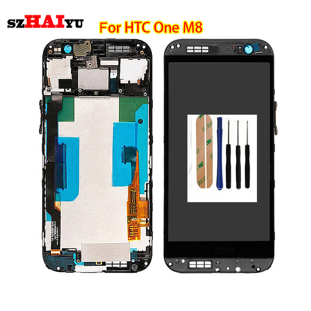 szHAIyu Tested Well Working LCD Display  For HTC ONE M8  LCD Display +Touch Screen  and Tools