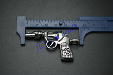 Cool Man Jewelry Stainless Steel Gun Pendant Linked Chain Necklace