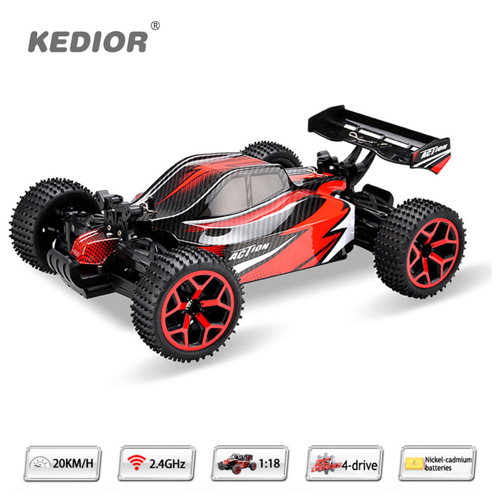High Quality RC Car 2.4G 1/18 Scale Remote Control Off-road Racing Car High Speed rc electric car Toy Gift For Boy hsp rc car 1 10 electric power remote control car 94601pro 4wd off road short course truck rtr similar redcat himoto racing