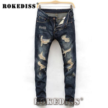 Robin jeans denim mens Tights 2017 Spring Autumn dsq New Grinding Straight trousers Slim C153 casual patches brand-clothing