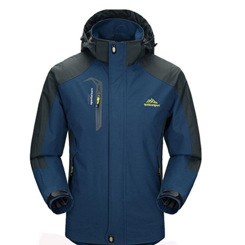 Для мужчин Куртки Водонепроницаемый Весна пальто с капюшоном Для мужчин верхняя одежда армия Однотонная повседневная обувь брендовая мужс...