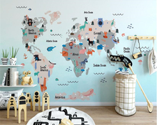 beibehang Indoor upscale decorative wall paper hand-drawn three-dimensional personalized animal children background 3d wallpaper