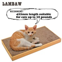 Cat Scratcher Cardboard Paper High Quality Cat Toy Scratching Pad 2 Size Can Choose L