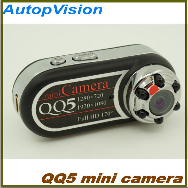 QQ5 Full HD 1080P Mini Camera Camcorder 170 degrees wide angle IR Night Vision 5pcs free shipping