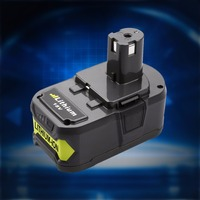 For Ryobi 18V 4000mAh P108 RB18L40 Lithium Ion Rechargeable Battery Pack Power Tools Battery Ryobi ONE