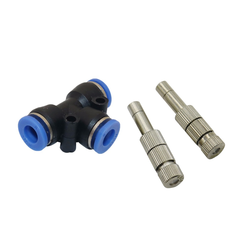 5-15bar 6mm Atomization Misting Fog Nozzle With Filter 6mm Slip Lock Quick Connectors Garden Irrigation Sprinklers 1 Pcs