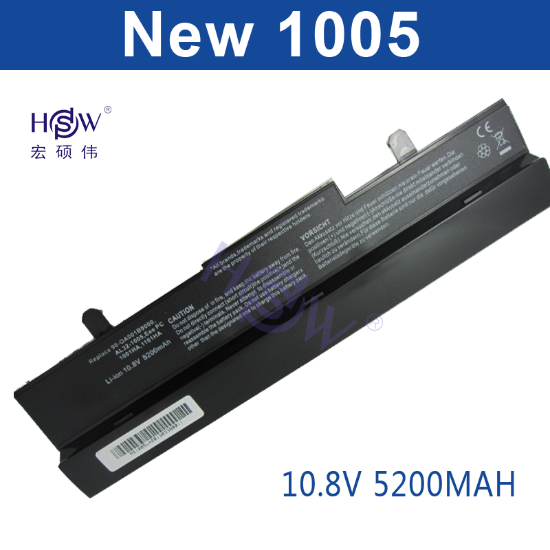 HSW 5200MAH Laptop Battery For Asus Eee PC 1001HA 1005 1005H 1005HA AL31-1005 AL32-1005 ML32-1005 PL32-1005 bateria  6cells new new genuine 14 4v 5200mah 74wh 8 cells a42 g55 notebook li ion battery pack for asus g55 g55v g55vm g55vw laptop