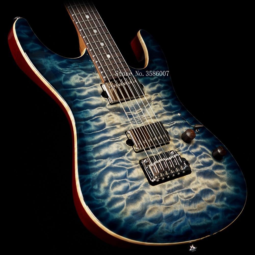 farmer custom shop su hr js9u3e electric guitar blue water wave 6 string electric guitar free. Black Bedroom Furniture Sets. Home Design Ideas