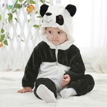Panda Kigurumi For Baby Children Kids Cartoon Animal Cosplay Costume Warm Soft Flannel Fancy Winter Onesie Cute Pajama Body Suit