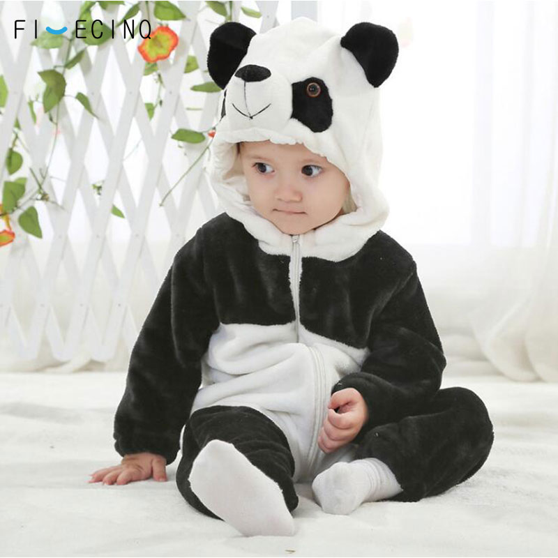 Panda Kigurumis Baby Children Kids Cartoon Animal Cosplay Costume Warm Soft Flannel Fancy Winter Onesie Cute Pajama Body Suit
