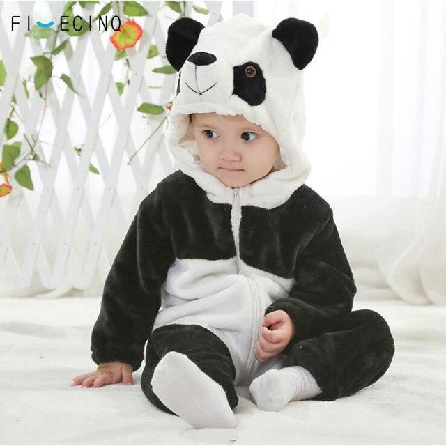 Panda Kigurumis Baby Kinder Kinder Cartoon Tier Cosplay Kostüm Warme Weiche Flanell Phantasie Winter Onesie Niedliche Pyjama Körper Anzug