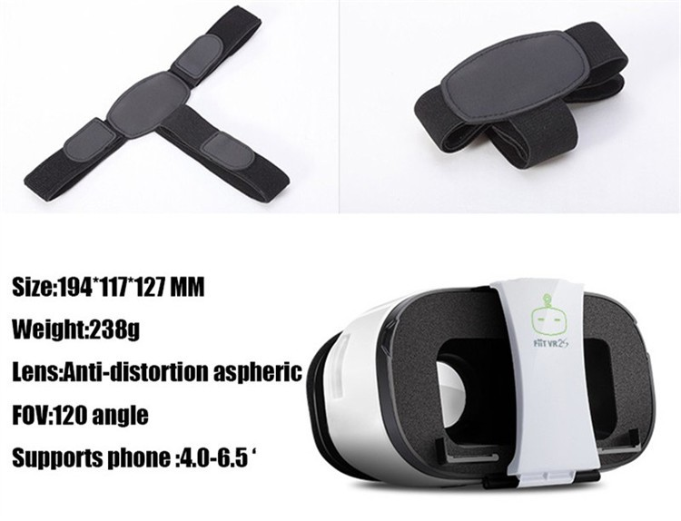 FIIT VR 2S Plastic Version Virtual Reality 3D Glasses Box Google Cardboard Oculos Rift Gear VR for 4.0-6.5 Smart Phone (13)